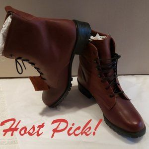 HP**Eddie Bauer NEW Lug Lace Up Leather Boot Women
